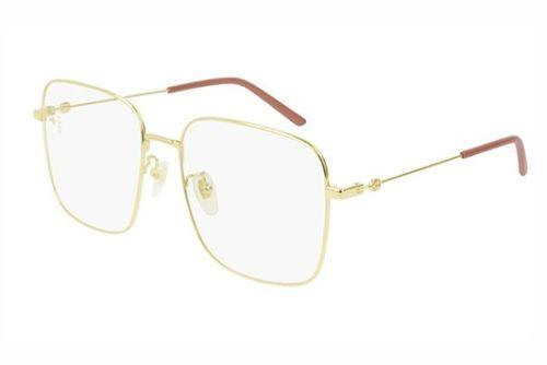 Gucci GG0445O 001 gold gold transparent 56 Akinių rėmeliai Moterims