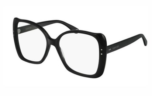 Gucci GG0473O 001 black black transpare 55 Akinių rėmeliai Moterims