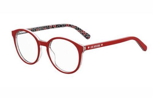 Moschino Love Mol540 0PA/19 RED PATTERN 50 Akinių rėmeliai Moterims