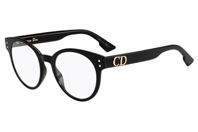 Christian Dior Diorcd3 807/20 BLACK 49 Akinių rėmeliai Moterims