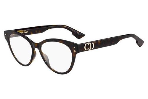 Christian Dior Diorcd4 086/16 DARK HAVANA 51 Akinių rėmeliai Moterims