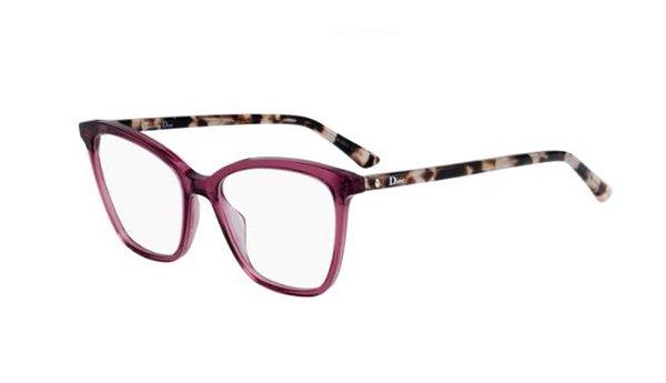 Christian Dior Montaigne46 0UC/17 RED HAVANA 52 Akinių rėmeliai Moterims
