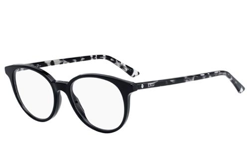Christian Dior Montaigne47 WR7/17 BLACK HAVANA 49 Akinių rėmeliai Moterims