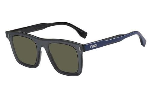 Fendi Ff M0086/s 09V/QT GREY BLUE 52 Akiniai nuo saulės Vyrams