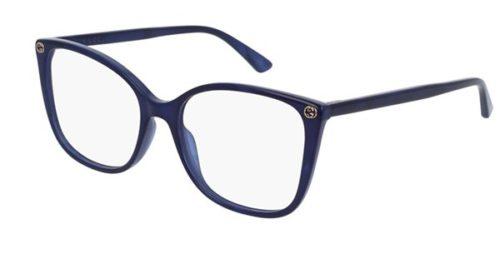 Gucci GG0026O blue 53 Akinių rėmeliai Moterims