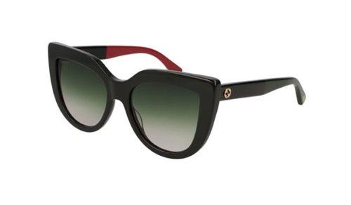 Gucci GG0164S 003 black black green 53 Akiniai nuo saulės Moterims