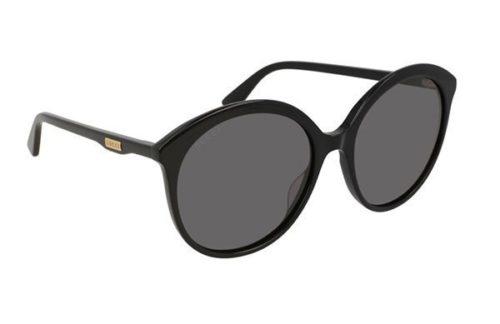 Gucci GG0257S 001 black black grey 59 Akiniai nuo saulės Moterims