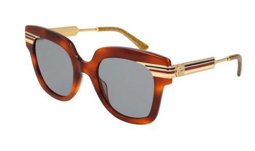 Gucci GG0281S 003-havana-gold-blue 50 Akiniai nuo saulės Moterims