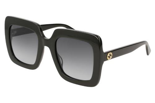 Gucci GG0328S 001 black black grey 53 Akiniai nuo saulės Moterims