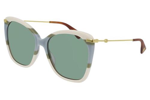 Gucci GG0510S 008 ivory gold green 56 Akiniai nuo saulės Moterims