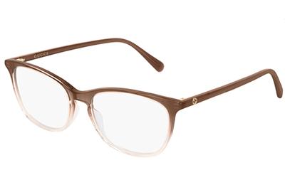 Gucci GG0549O 009 brown brown transpare 54 Akinių rėmeliai Moterims
