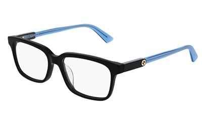 Gucci GG0557OJ 004 black blue transparen 53 Akinių rėmeliai Moterims