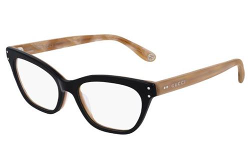 Gucci GG0570O 007 black brown transpare 52 Akinių rėmeliai Moterims