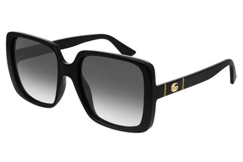 Gucci GG0632S 001 black black grey 56 Akiniai nuo saulės Moterims