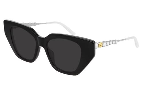 Gucci GG0641S 001 black silver grey 53 Akiniai nuo saulės Moterims