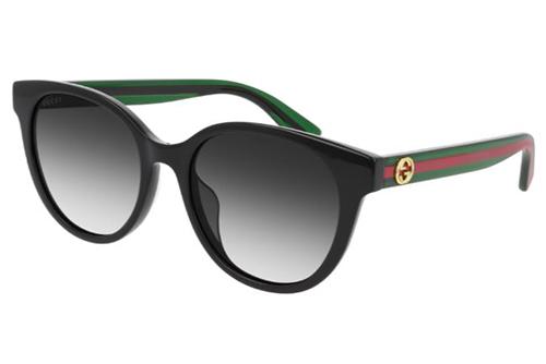 Gucci GG0702SK 004 black green grey 54 Akiniai nuo saulės Moterims