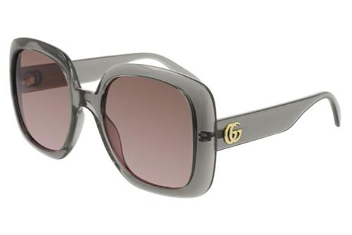 Gucci GG0713S 004 grey grey brown 55 Akiniai nuo saulės Moterims