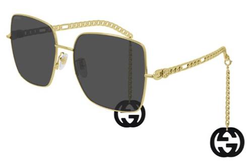 Gucci GG0724S 001 gold gold grey 61 Akiniai nuo saulės Moterims