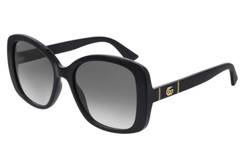 Gucci GG0762S 001 black black grey 56 Akiniai nuo saulės Moterims
