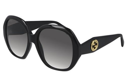 Gucci GG0796S 001 black black grey 56 Akiniai nuo saulės Moterims