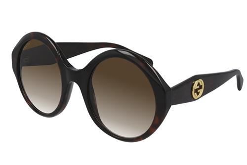 Gucci GG0797S 002 havana havana brown 54 Akiniai nuo saulės Moterims