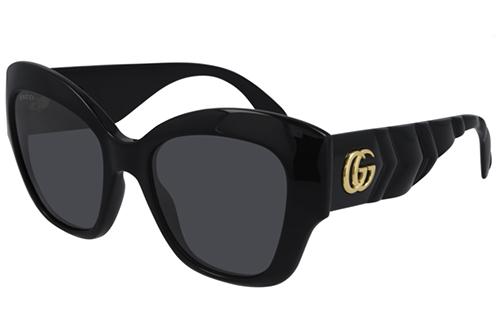 Gucci GG0808S 001 black black grey 53 Akiniai nuo saulės Moterims