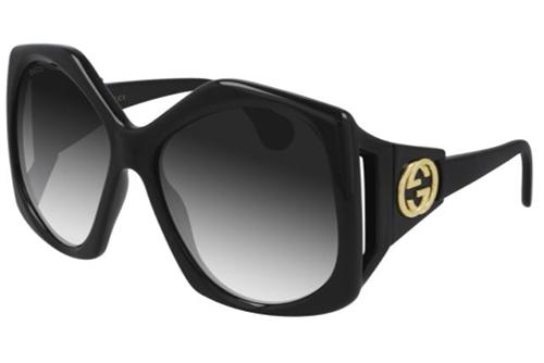 Gucci GG0875S 001 black black grey 62 Akiniai nuo saulės Moterims