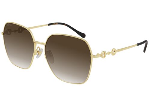 Gucci GG0882SA 002 gold gold violet 60 Akiniai nuo saulės Moterims