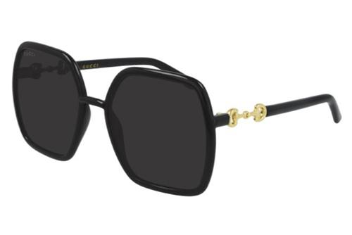 Gucci GG0890S 001 black black grey 55 Akiniai nuo saulės Moterims