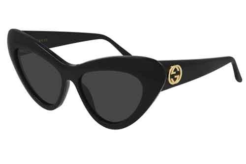 Gucci GG0895S 001 black black grey 54 Akiniai nuo saulės Moterims