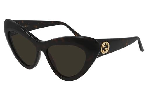 Gucci GG0895S 002 havana havana brown 54 Akiniai nuo saulės Moterims