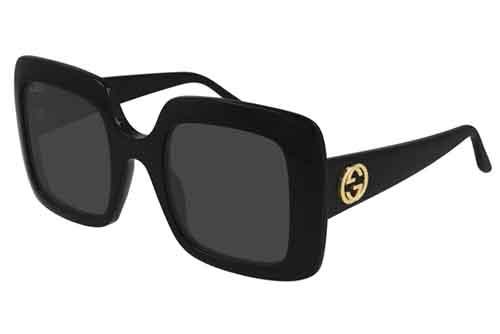 Gucci GG0896S 001 black black grey 52 Akiniai nuo saulės Moterims