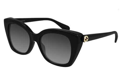 Gucci GG0921S 001 black black grey 55 Akiniai nuo saulės Moterims