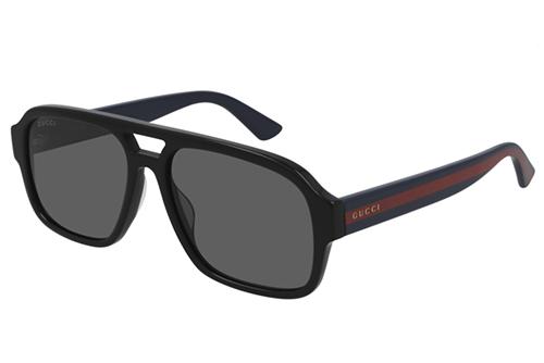 Gucci GG0925S 001 black blue grey 58 Akiniai nuo saulės Vyrams