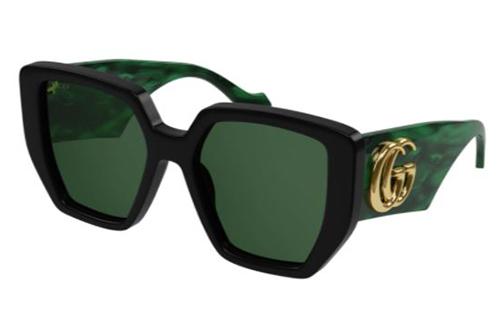 Gucci GG0956S 001 black green green 54 Akiniai nuo saulės Moterims