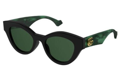 Gucci GG0957S 001 black green green 51 Akiniai nuo saulės Moterims