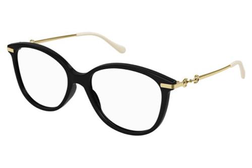 Gucci GG0967O 001 black gold transparen 53 Akinių rėmeliai Moterims