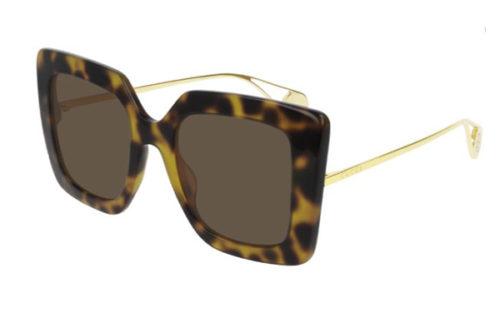 Gucci GG0435S 003 havana gold brown 51 Akiniai nuo saulės Moterims