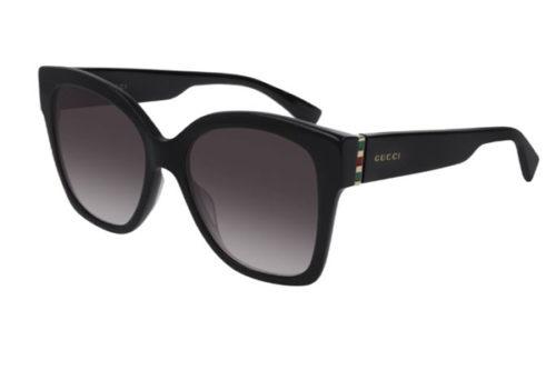 Gucci GG0459S 001 black gold grey 54 Akiniai nuo saulės Moterims