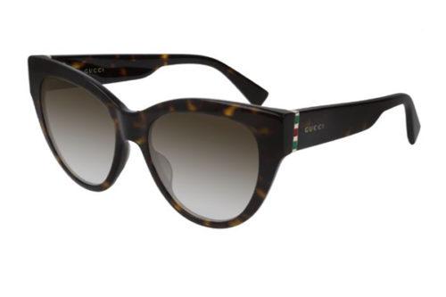 Gucci GG0460S 002 havana gold brown 53 Akiniai nuo saulės Moterims