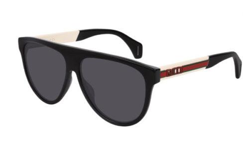 Gucci GG0462S 002 black white grey 58 Akiniai nuo saulės Vyrams