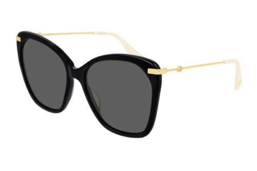 Gucci GG0510S 001 black gold grey 56 Akiniai nuo saulės Moterims