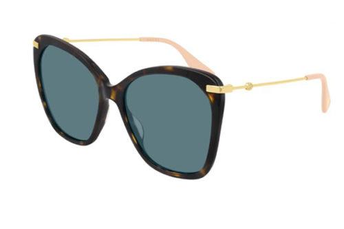 Gucci GG0510S 004 havana gold blue 56 Akiniai nuo saulės Moterims
