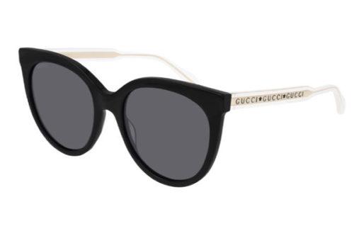 Gucci GG0565S 001 black crystal grey 54 Akiniai nuo saulės Moterims