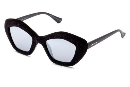 Italia Independent 0943V.009.GLT glitter velvet black 49 Akiniai nuo saulės Moterims