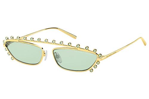 Marc Jacobs Marc 487/s PEF/QT GOLD GREEN 60 Akiniai nuo saulės Moterims