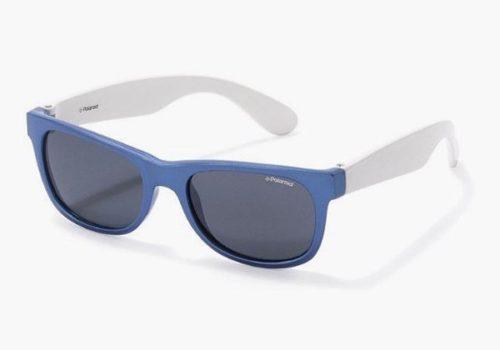 Polaroid P0300 0JU/Y2 BLUE WHITE 43 Akiniai nuo saulės Vaikams