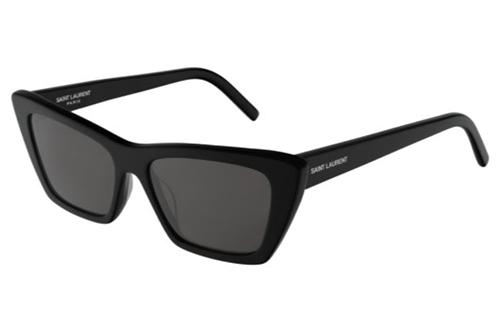 Saint Laurent SL 276 MICA 001 black black grey 53 Akiniai nuo saulės Moterims
