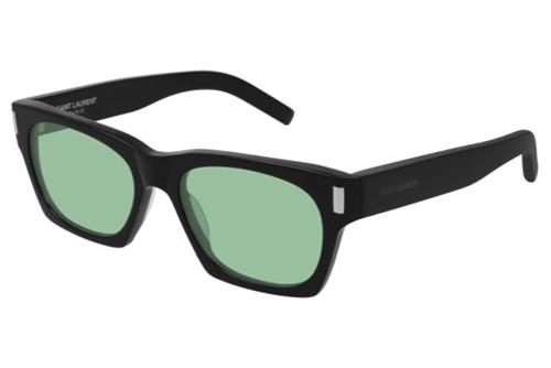 Saint Laurent SL 402 006 black black green 54 Akiniai nuo saulės unisex