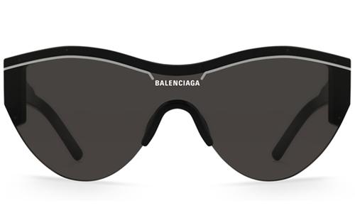 Balenciaga BB0004SA 001 black black grey  Akiniai nuo saulės Unisex
